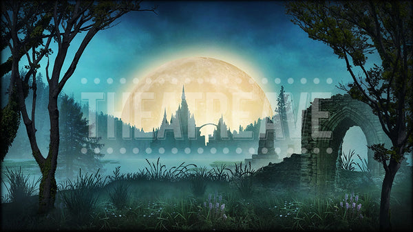 Swan Lake projection backdrop by Theatre Avenue, for ballet shows digital scenery.