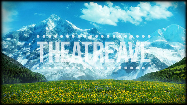 Vibrant Hills a digital theatre projection backdrop perfect for shows like Sound of Music, Wizard of Oz, and Honk!