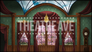 Victorian Parlor a digital theatre projection backdrop perfect for shows like Annie, Mary Poppins, and Sound of Music.