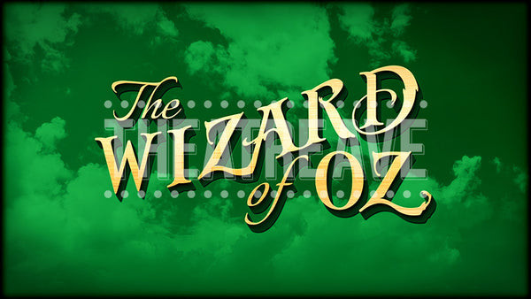 Wizard of Oz title projection, color version for theatre and dance performances.