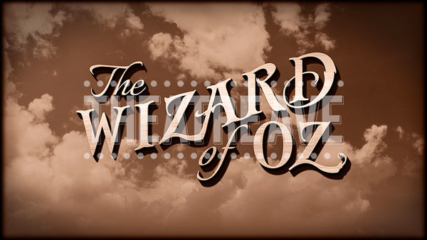 Wizard of Oz Sepia Title Projection