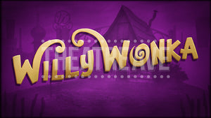 Willy Wonka title projection for pre-show and intermission by Theatre Avenue.