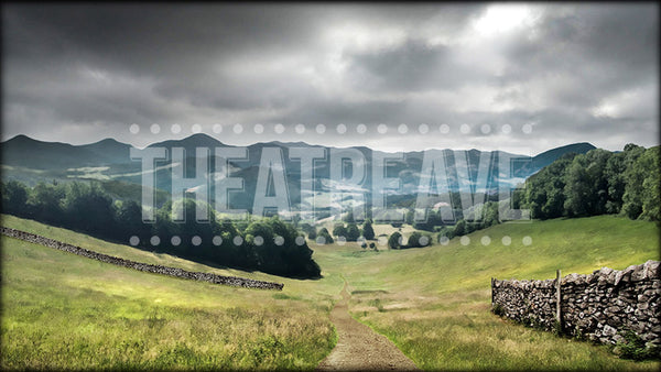 Sleepy Valley, a digital backdrop projection perfect for shows like Sleepy Hollow and Pride and Prejudice.