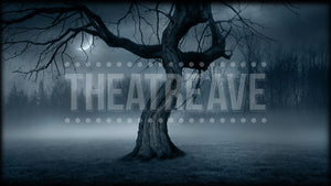 Twisted Tree at Night, a digital backdrop projection perfect for shows like Sleepy Hollow on stage.