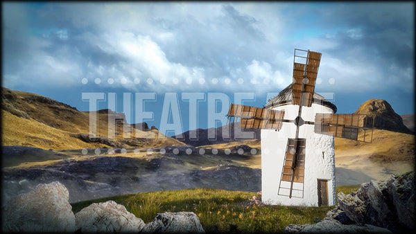 Don Quixote projection backdrop called Windmill Vista by Theatre Avenue