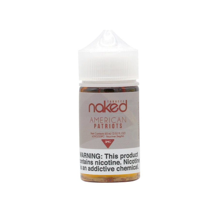 American Patriot - Naked 100 Tobacco E-Liquid 60ml - VapeNip