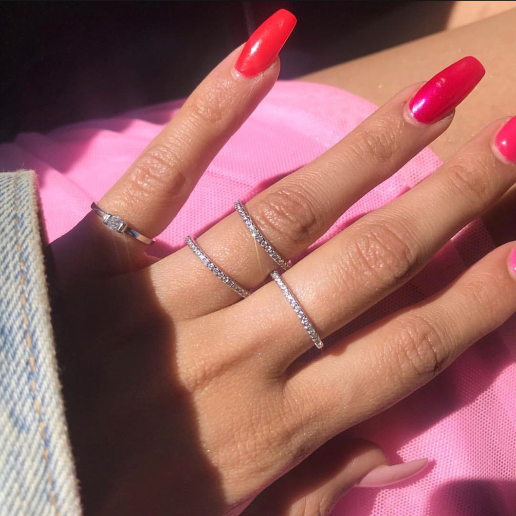 Diamond midi rings