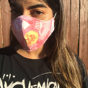 Back TF up face mask (pink)