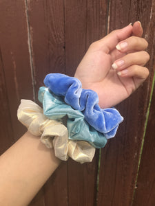 periwinkle scrunchie set