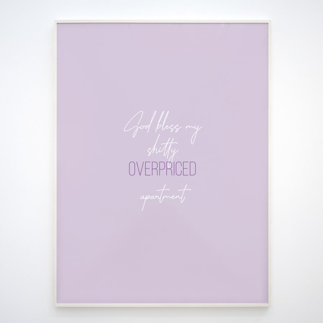 Lilac Apartment Print, Downloadable print poster wall art