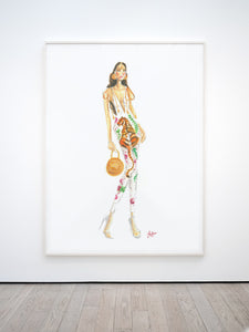 Fashion sketch jumpsuit Print, Downloadable print poster wall art