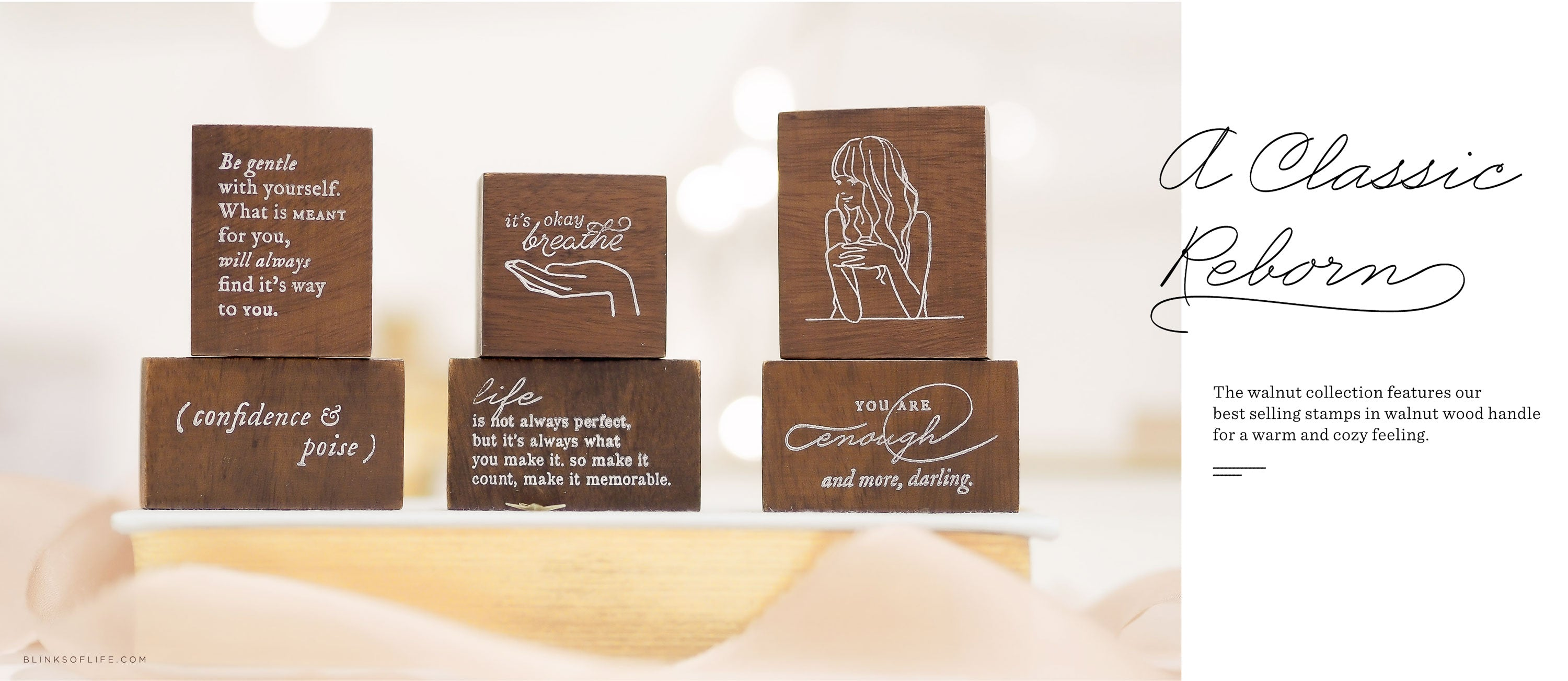 Blinks of Life - Rubber Stamps - Walnut Collection