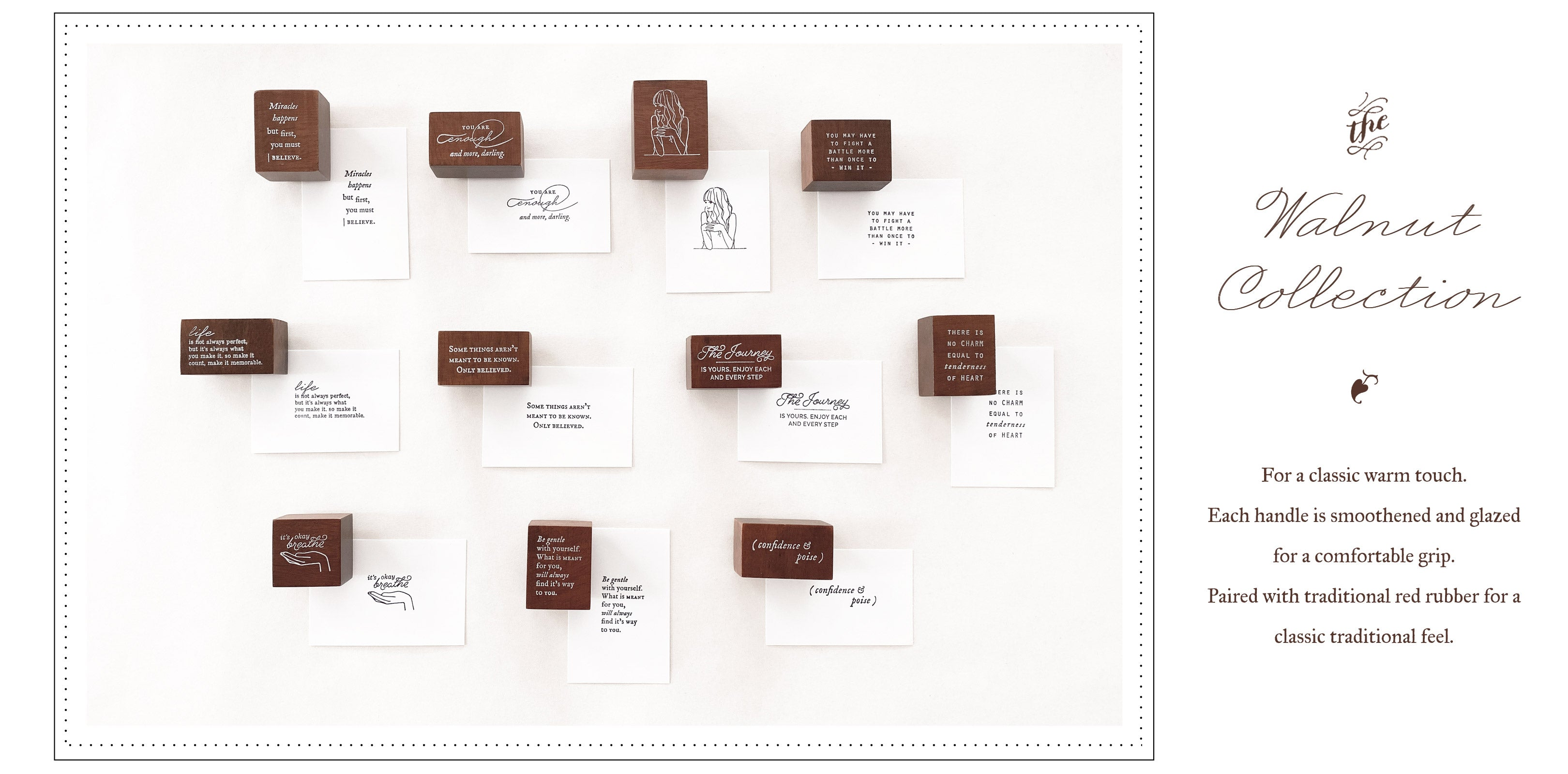 Blinks of Life - Journal Quote Stamps - The Walnut Collection