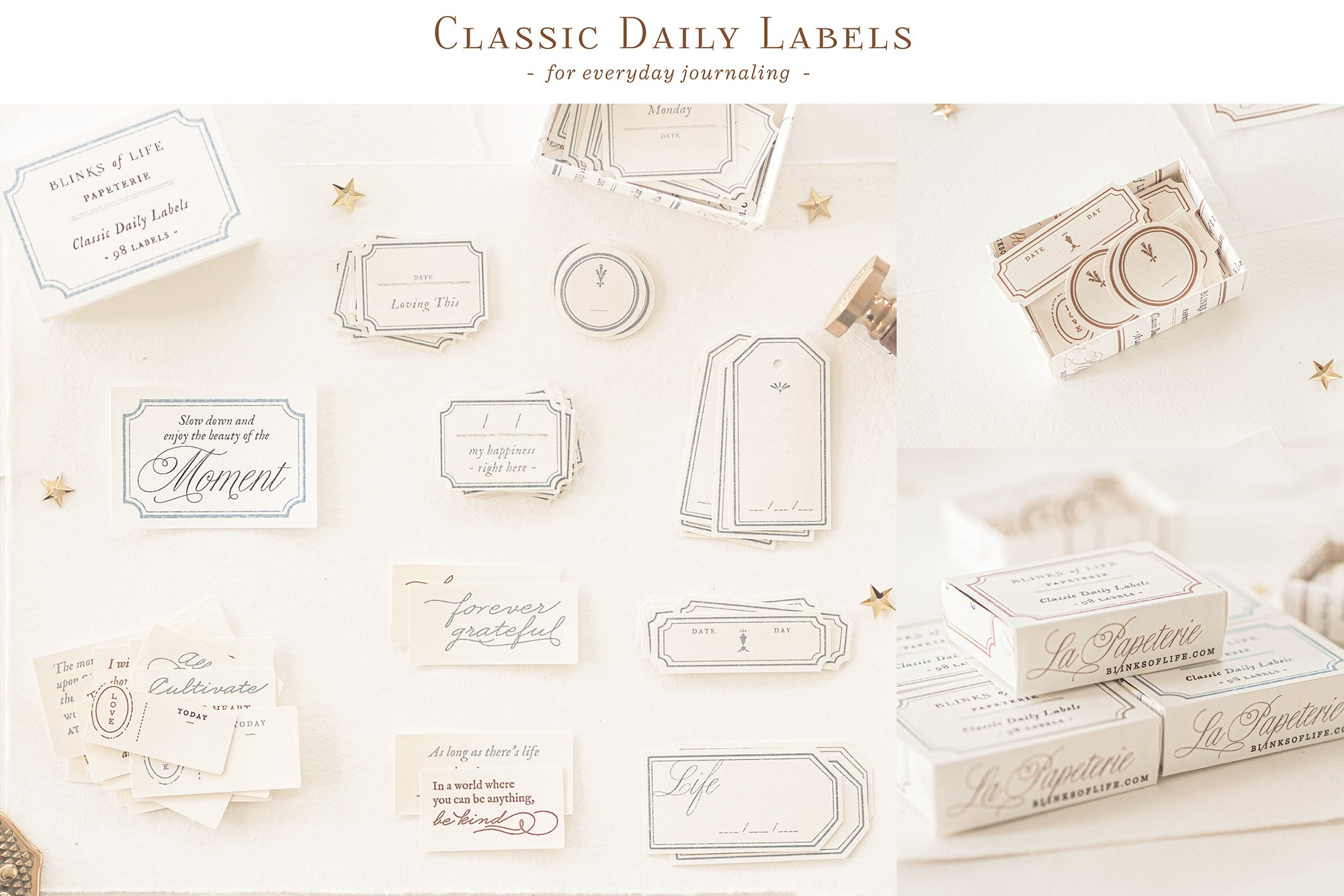 Blinks of Life - Classic Daily Labels - Classic Brown