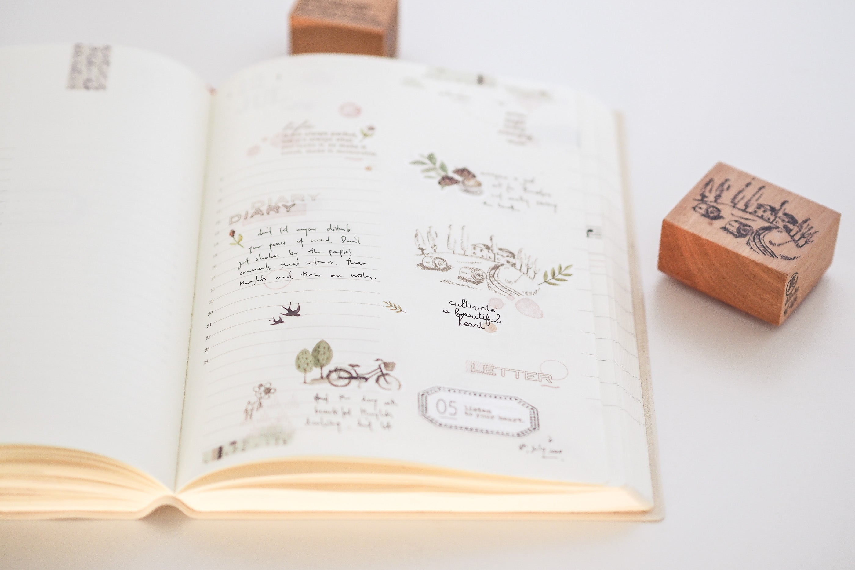 Blinks of Life - Creative Journal Rubber Stamp - Stamp Atelier