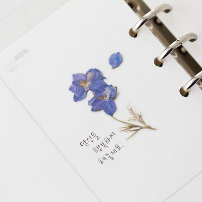Appree Press Flower Sticker - #12 Larkspur