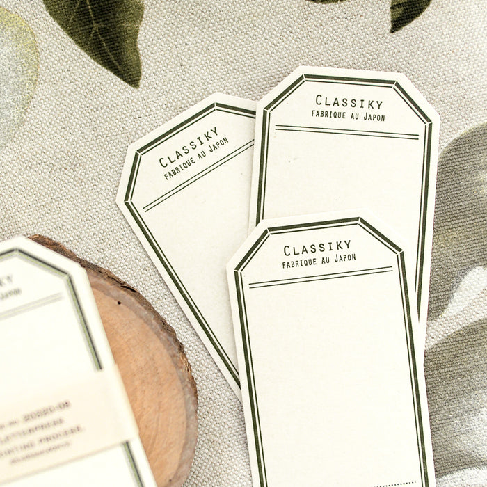 Classiky Letterpress Label Card Tag - Green
