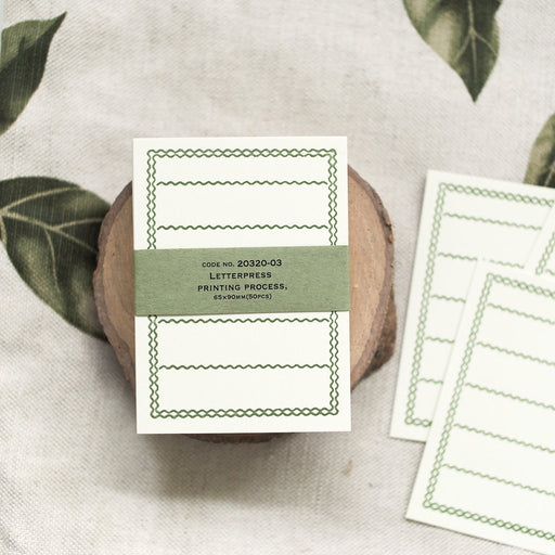 Letterpress Note Cards - Green