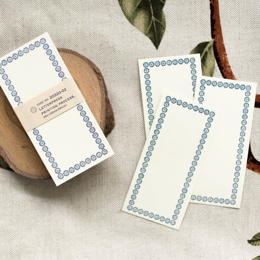 Classiky Letterpress Note Cards - Blue