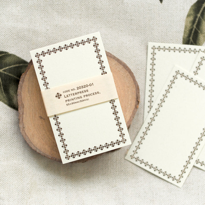 Classiky Letterpress Note Cards - Brown