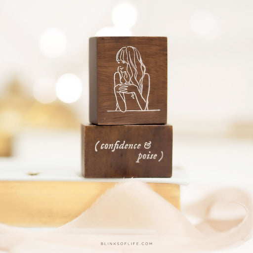 Blinks of Life - Journal Quote Stamps - Confidence & Poise