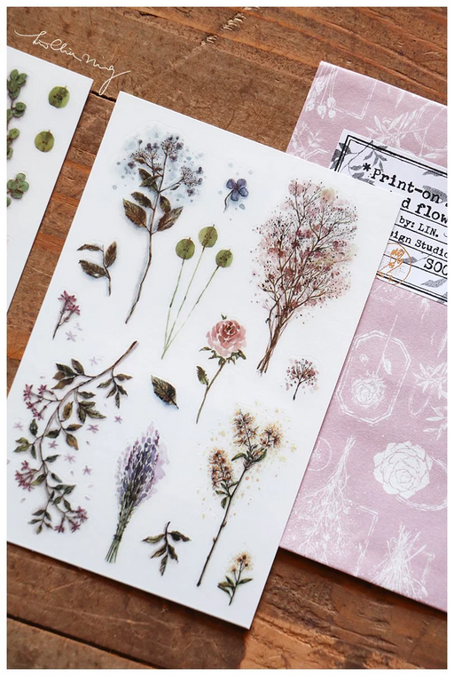 Lin Chia Ning - Dried Flower rub-on stickers