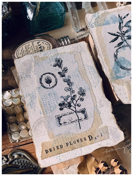 Lin Chia Ning - Dried Flower stamp set D
