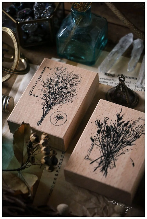 Lin Chia Ning - Dried Flower stamp set E