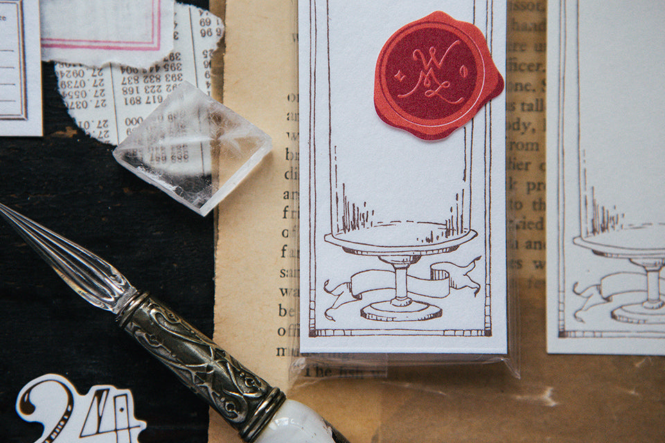 OURS - Glass Dome Letterpress Label Book