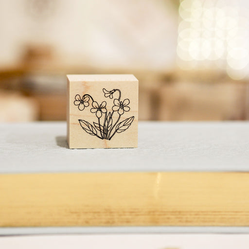 HUTTE Paper Works Botanical Stamp - Violet