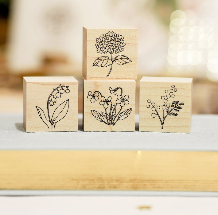 HUTTE Paper Works Botanical Stamp