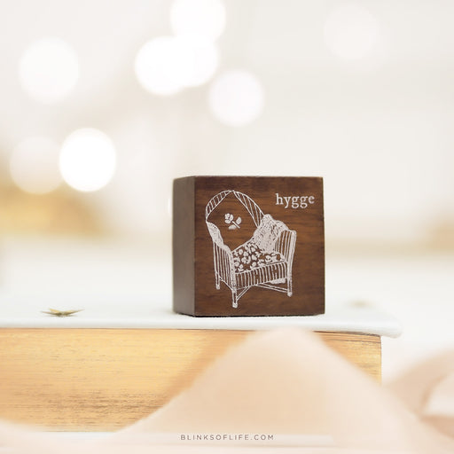 Blinks of Life - Hygge Rubber Stamp