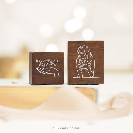 Blinks Of Life - Journal Quote Stamps - It's Okay, Breathe