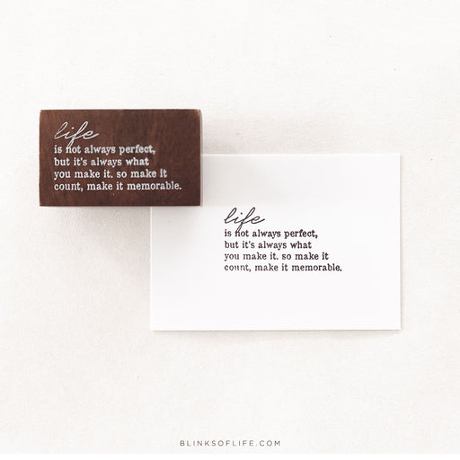 Blinks Of Life - Journal Quote Stamps - Make It Count