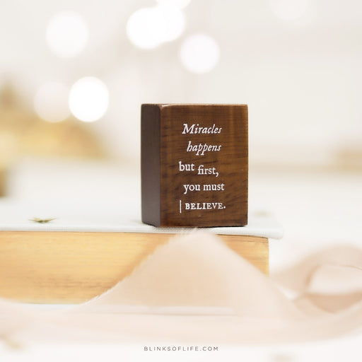 Blinks Of Life - Journal Quote Stamps - Miracles Happens