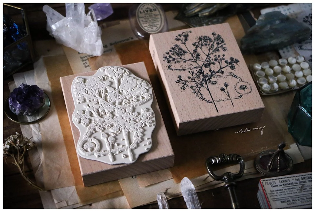 Lin Chia Ning - Dried Flower stamp set A