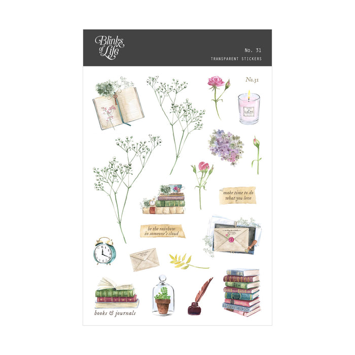 Blinks of Life - Journal Bujo Transparent Stickers