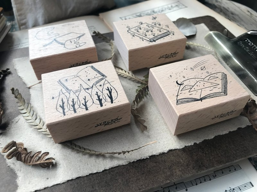 Avocado Mori - Journey of Diary Rubber Stamp