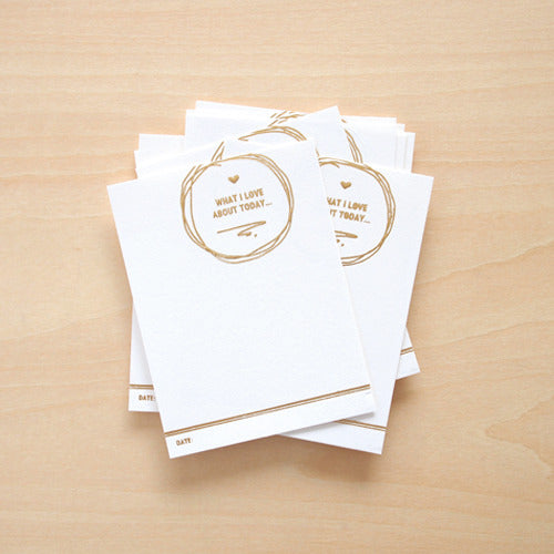 blinks of life - reminisce - gold letterpress cards