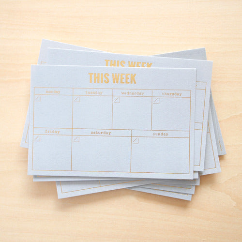 Blinks of Life - This Week in Gray - Gold Letterpress Cards