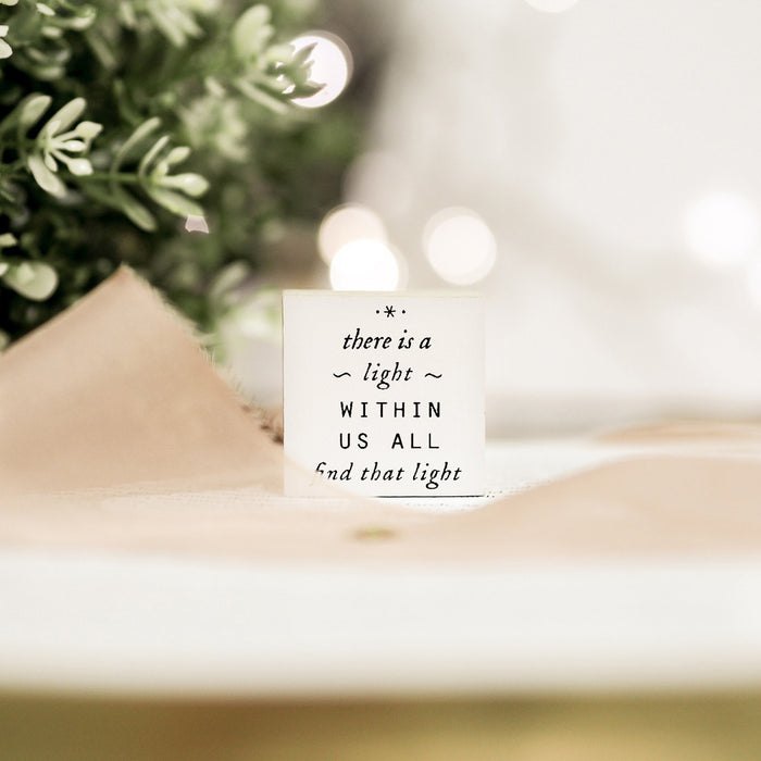 Blinks of Life Rubber Stamp Journal Quote - Find That Light