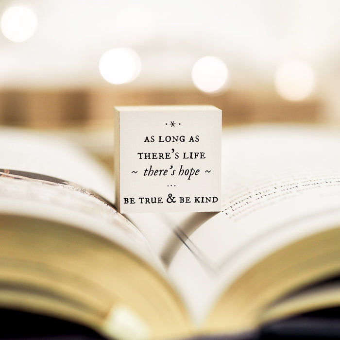 Blinks of Life Rubber Stamp Journal Quote - True & Kind