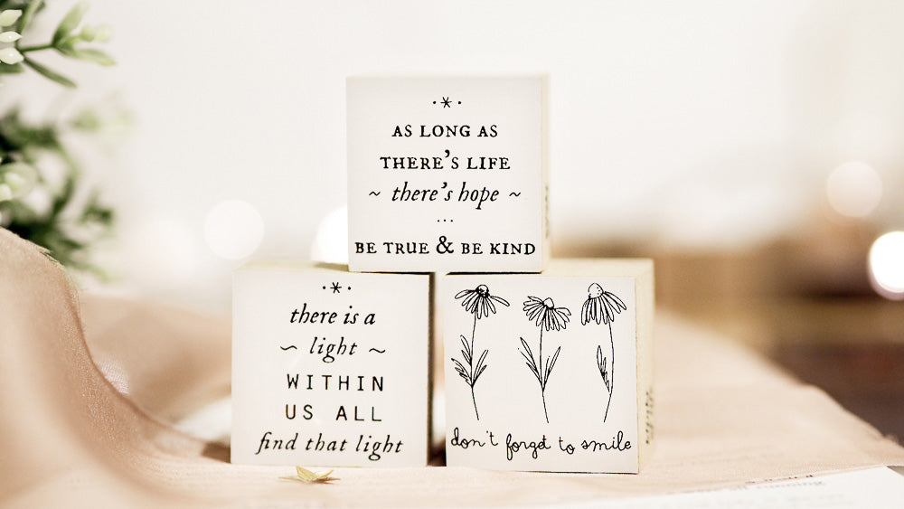 Blinks of Life Rubber Stamp Journal Quote - Bloom With Grace