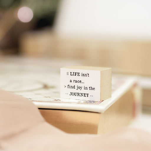 Blinks of Life Journal Quote Stamp - The Journey