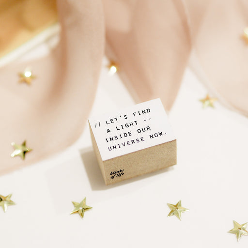 Blinks of Life Journal Quote Stamp - Find The Light