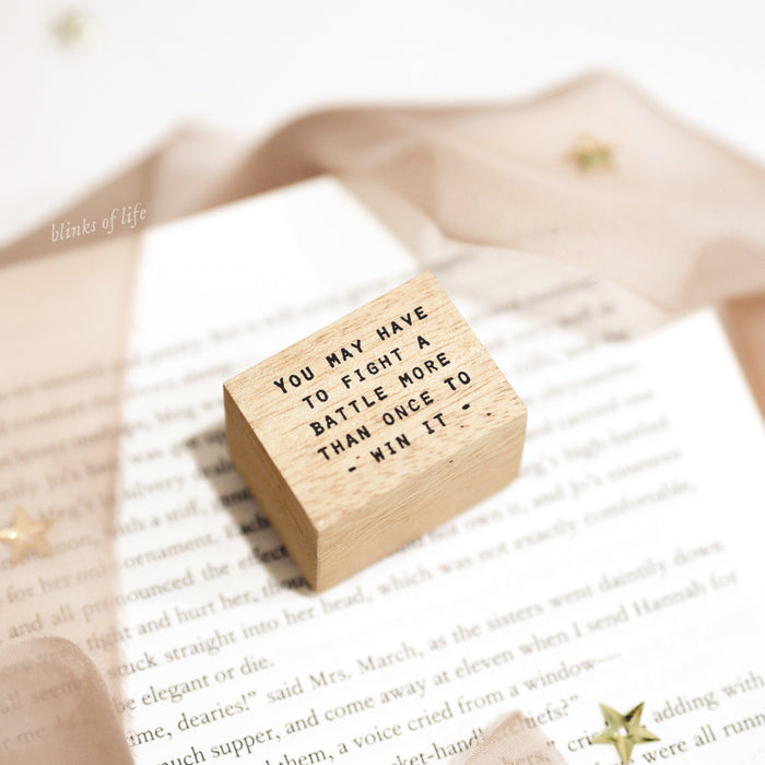 Blinks of Life Journal Quote Stamp - To Win
