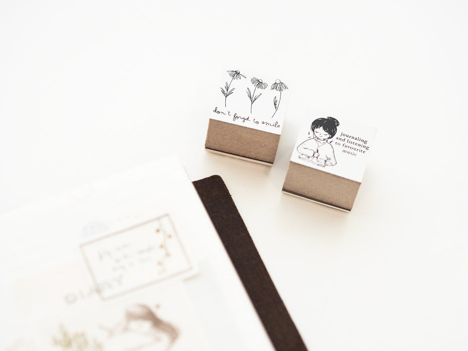 Blinks of Life - Don't Forget To Smile Rubber Stamp