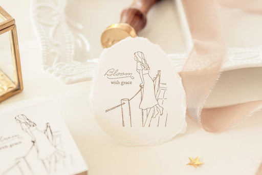 Blinks of Life - Bloom With Grace - Rubber Stamp