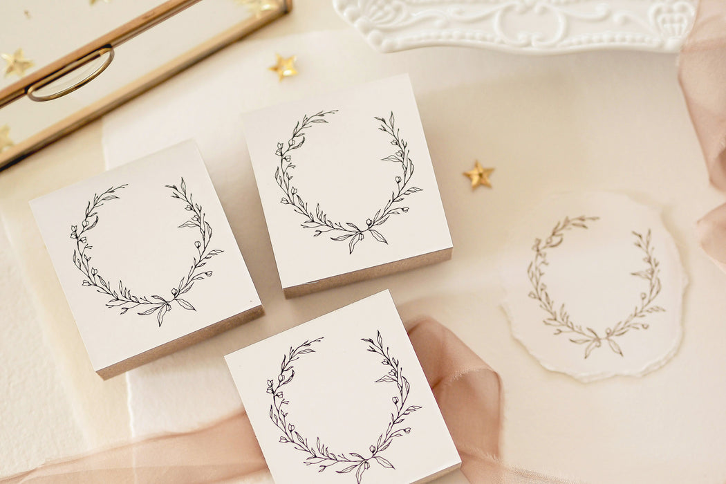 Blinks of Life - Botanical Wreath - Rubber Stamp