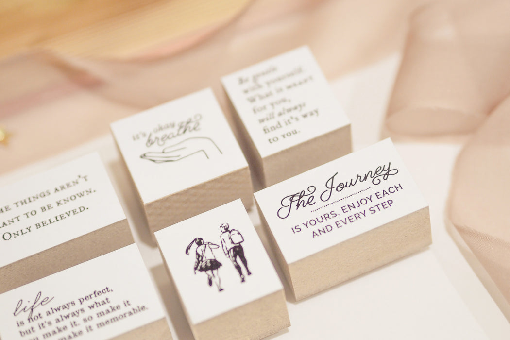 Blinks of Life - Journal Quote Stamp - The Journey is Yours